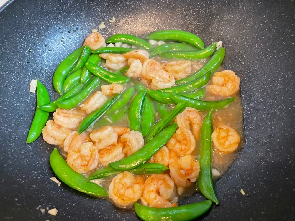 甜豆炒蝦仁 簡易食譜 簡單食譜 大象發福廚房食譜 蝦仁食譜 甜豆食譜