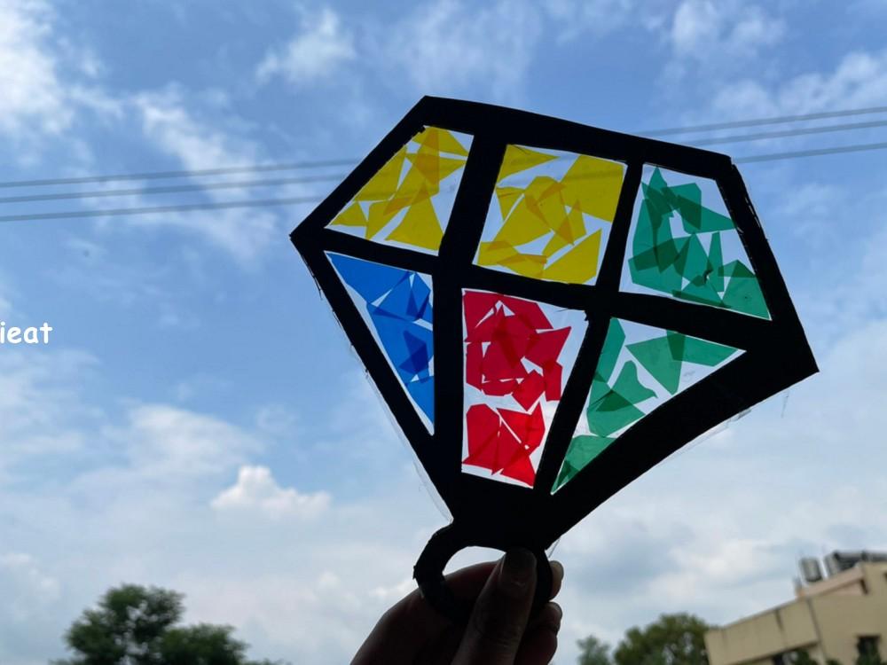 簡單手作 玻璃紙diy 親子diy