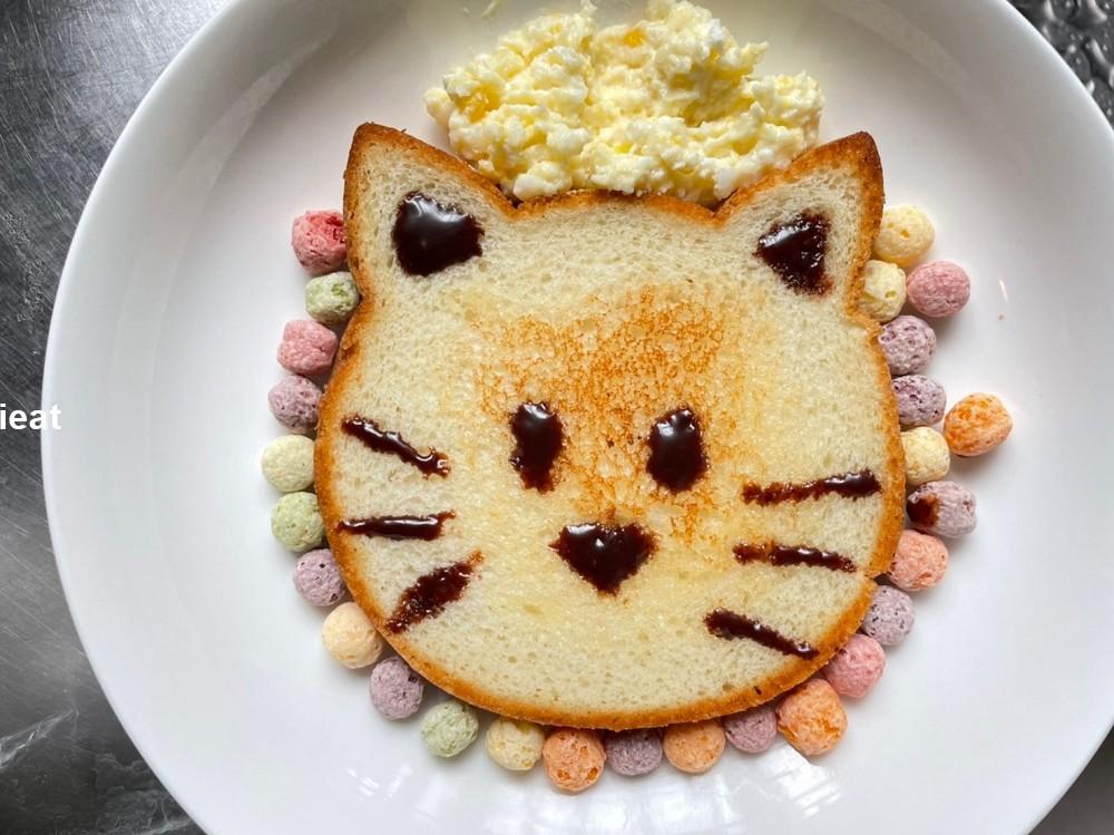 全聯吐司料理 全聯貓咪吐司 吐司料理 貓咪吐司 小孩早餐