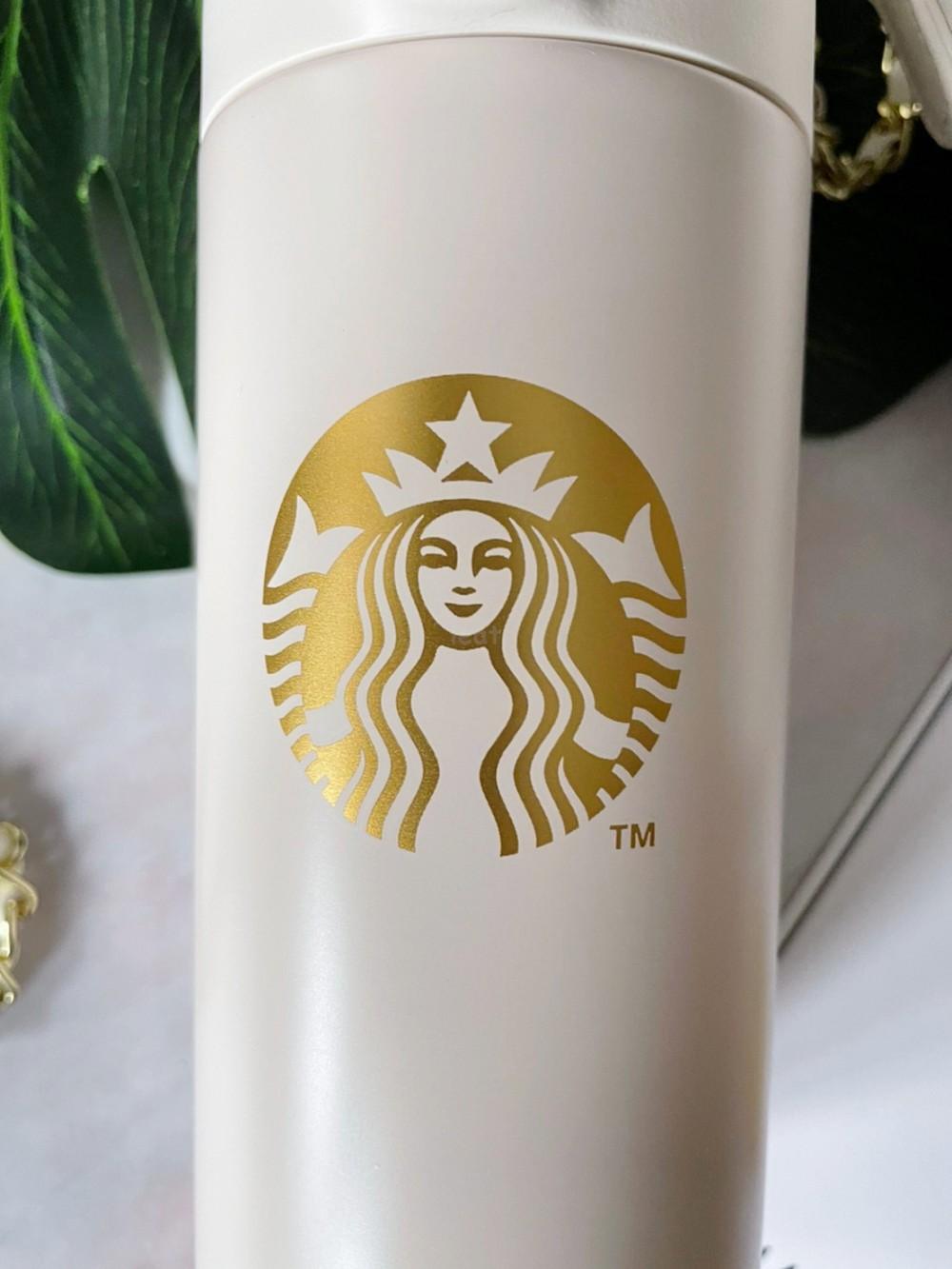 小香風星巴克 白色星巴克 白色星巴克保溫瓶 菱格紋保溫瓶