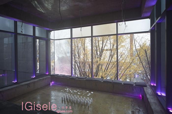 窗外黃澄澄的銀杏與室內綻放的純白花瓣,造就出超越時間規則的休憩空間。