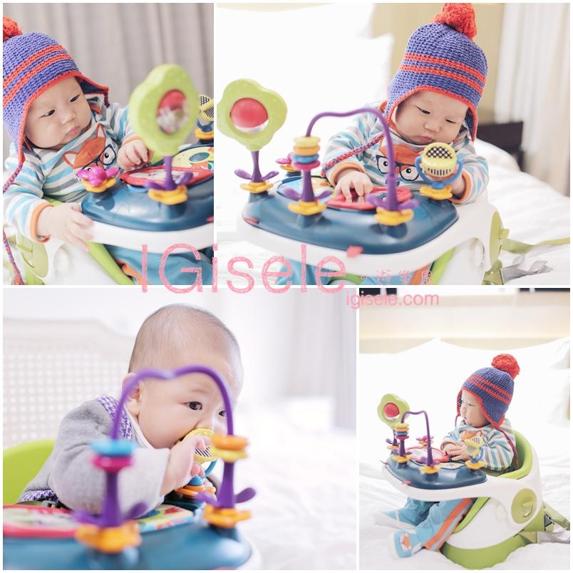 [寶寶] 乖乖一個人可以玩上半小時的玩樂椅。MAMAS & PAPAS三合一都可椅開箱文