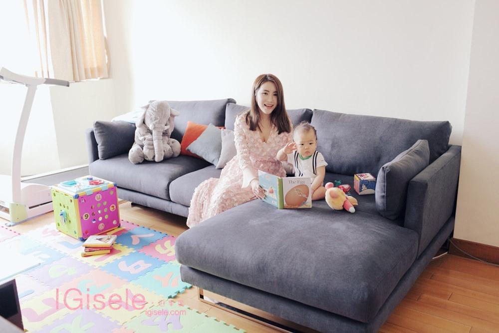 [沙發] 我家的沙發是平價又時尚的i-Living沙發❤手指動一動不用花大錢家裡也能變得更溫馨