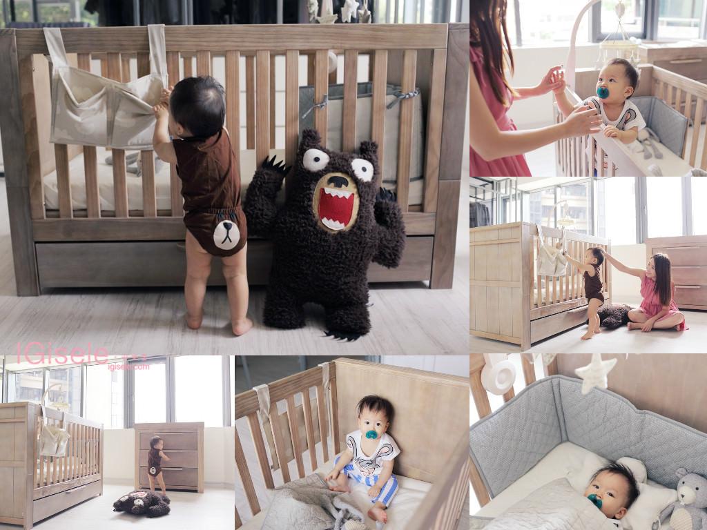 [寶寶] 乖乖溫馨的實木新床舖、新衣櫃開箱分享