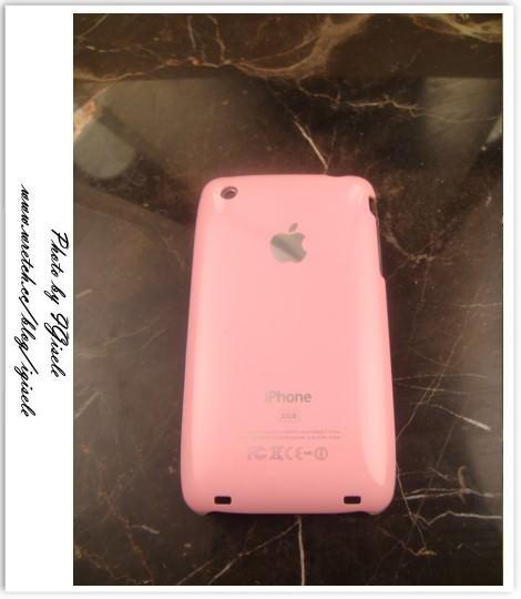 [開箱] iPhone 3GS牛奶粉紅保護殼