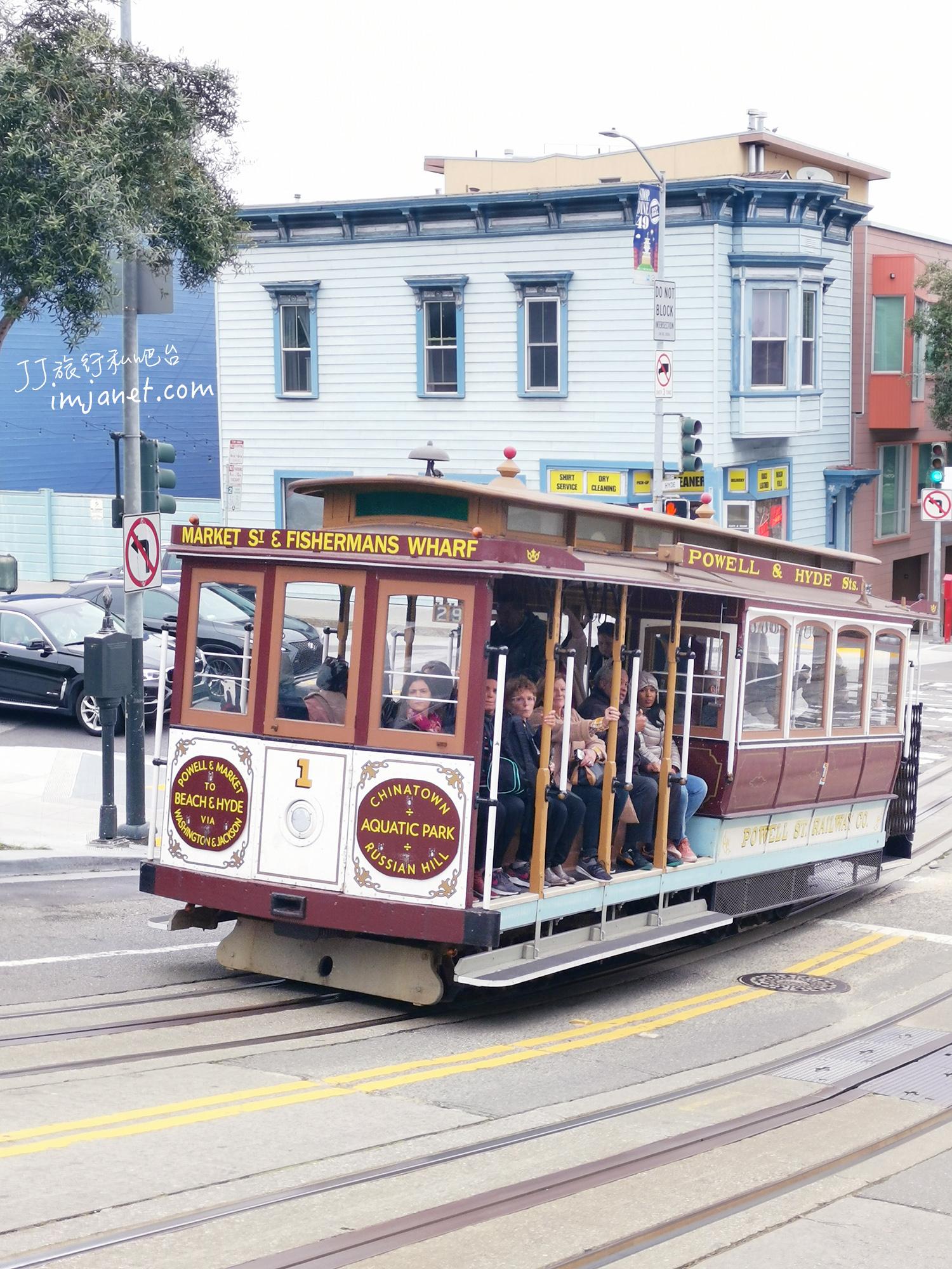 舊金山|叮叮車一日遊,搭著纜車欣賞舊金山街景去