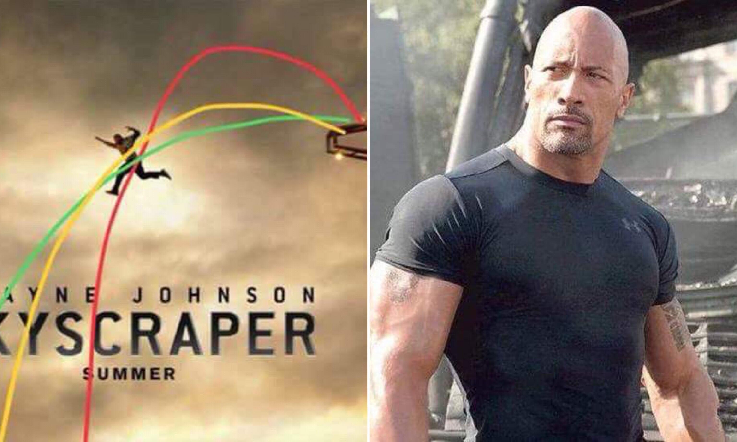 他明明就會摔死!網友分析巨石強森《摩天大樓》海報,這角度太不合理了….. – 我們用電影寫日記