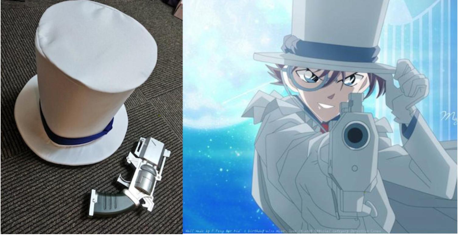 日本網友買了「怪盜基德」的帽子打算COS耍帥,結果開箱後才驚覺不對勁  ….. —《名偵探柯南》—