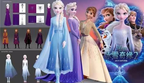 《冰雪奇緣2》服裝設計初稿大揭秘,光是 Elsa 的禮服竟然就有 6 個版本… – 我們用電影寫日記