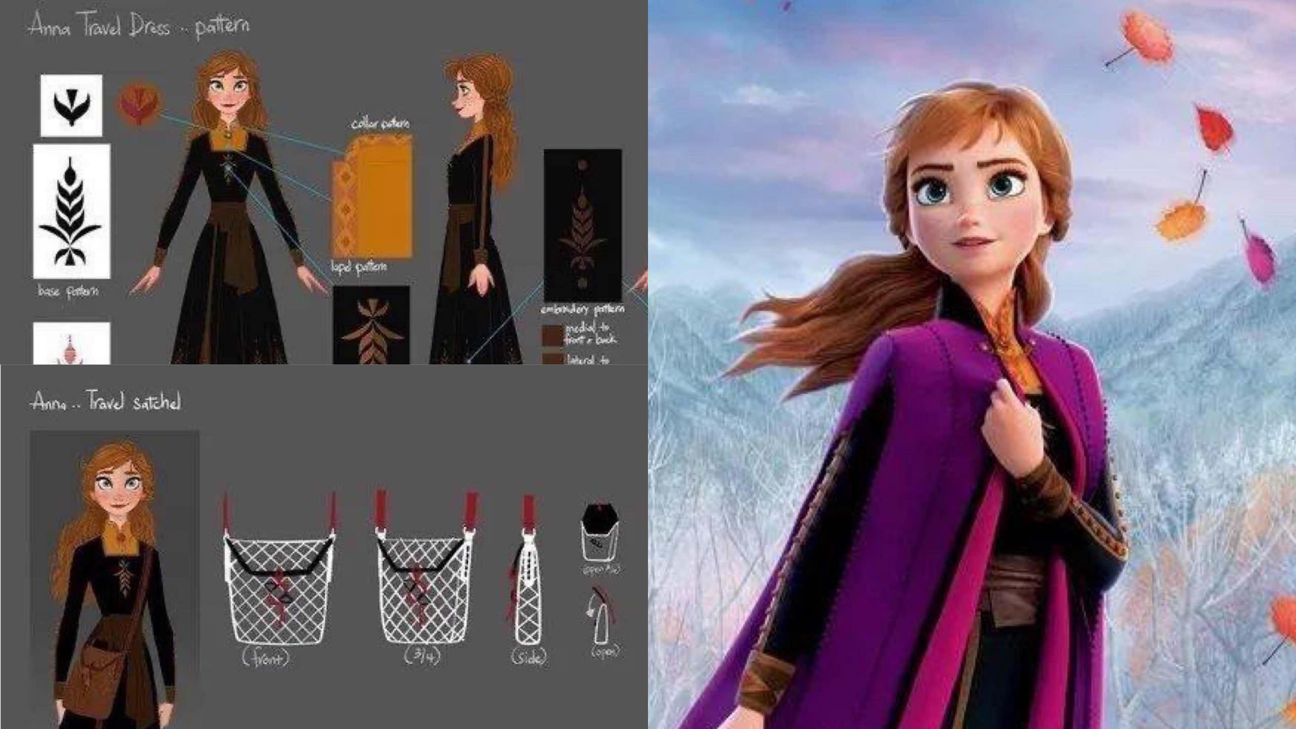 《冰雪奇緣2》不只 Elsa 的禮服暗藏玄機!幕後設計師公開 Anna 的服裝、皇冠和披風「靈感來自這裡」… – 我們用電影寫日記