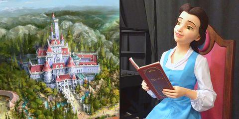 《美女與野獸》粉紅城堡蓋好了,東京迪士尼公開曝光新園區! – 我們用電影寫日記
