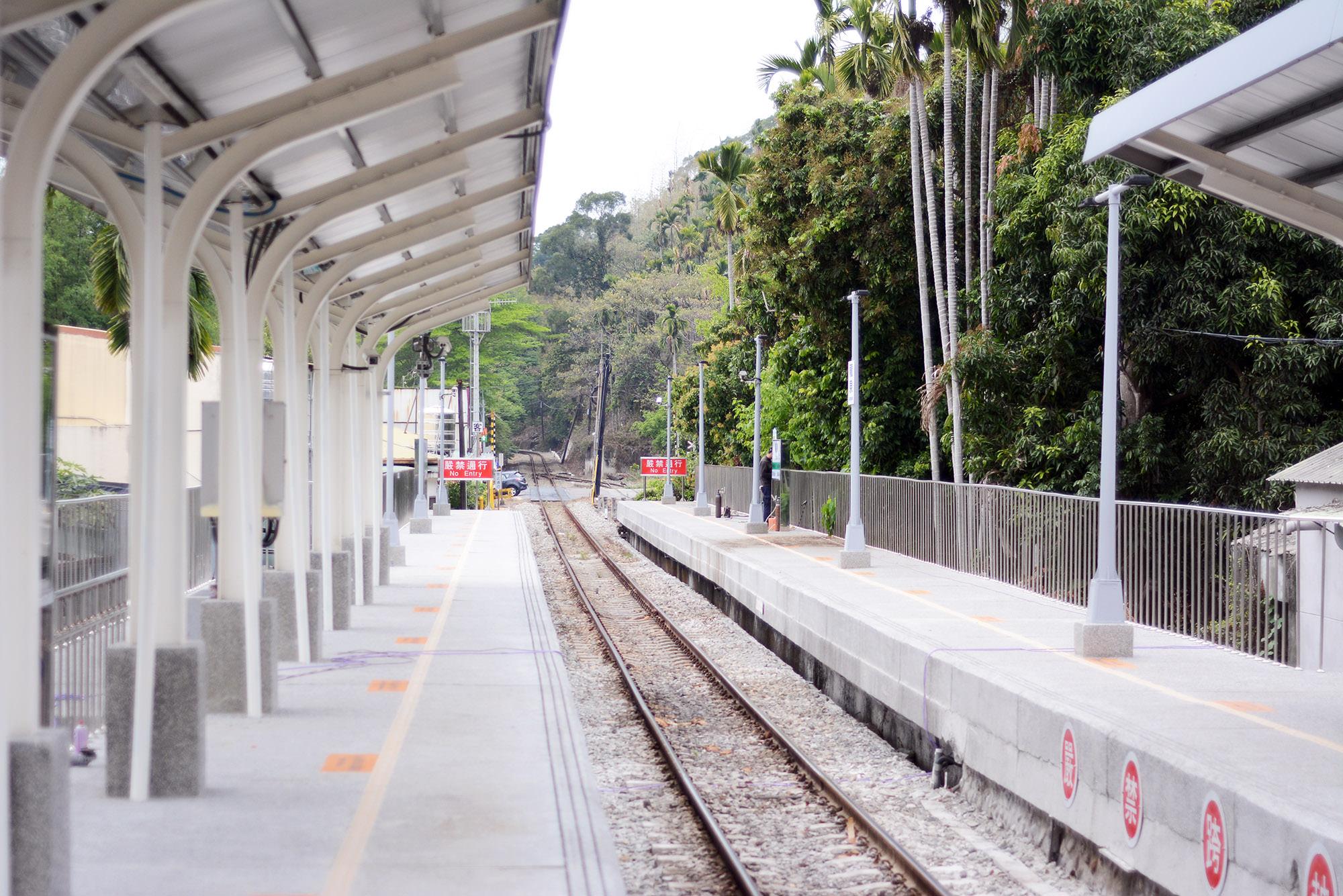 南投景點,集集鎮,集集線,小火車,龍泉車站,綠色隧道