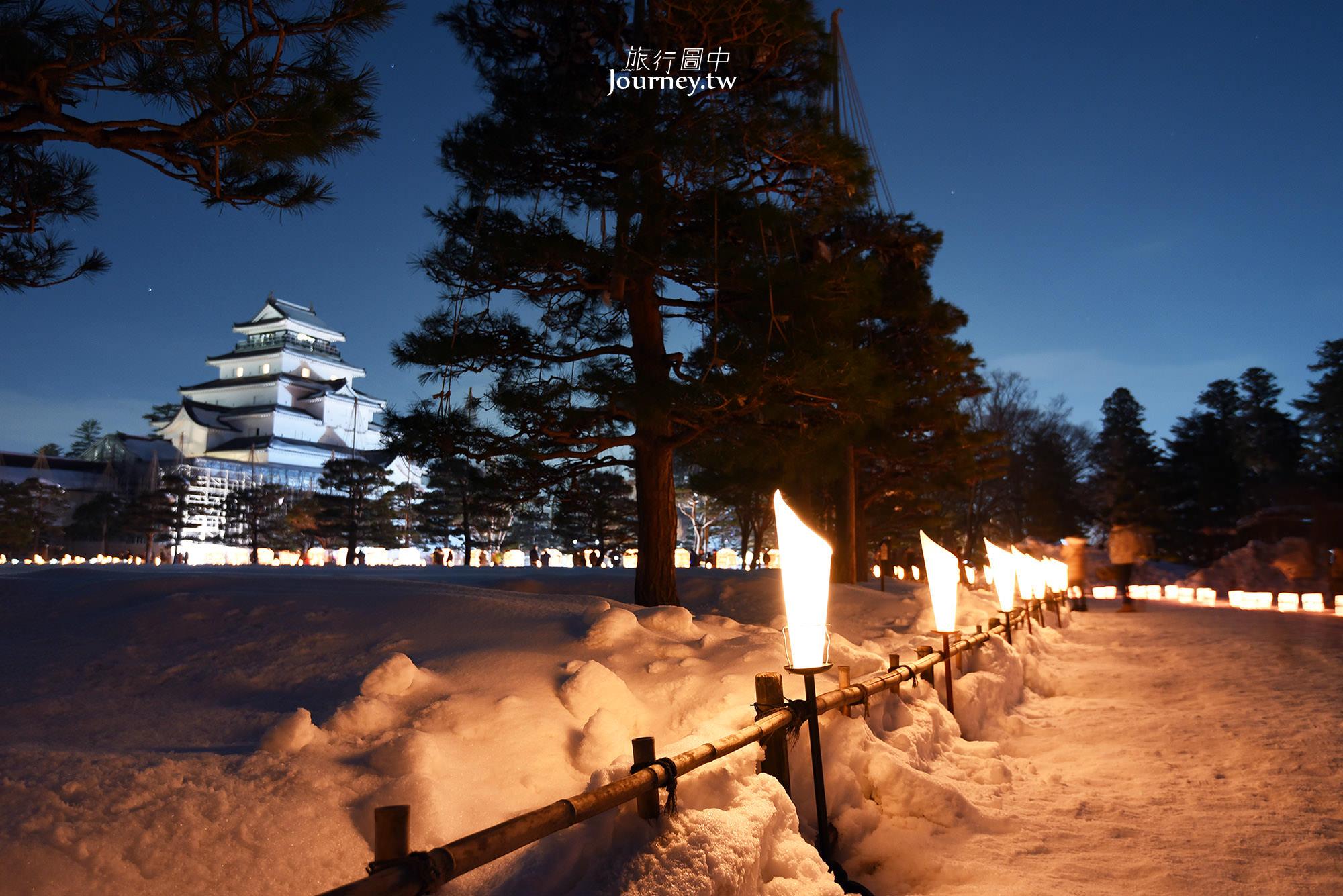 日本,福島,會津繪蠟燭節,鶴ヶ城,会津絵ろうそくまつり