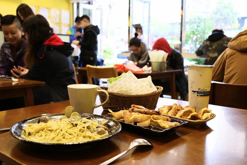 林口早午餐推薦 拿靠早餐店 肉片加蛋蘿蔔糕豐富多料 蛤蜊義大利麵CP超高