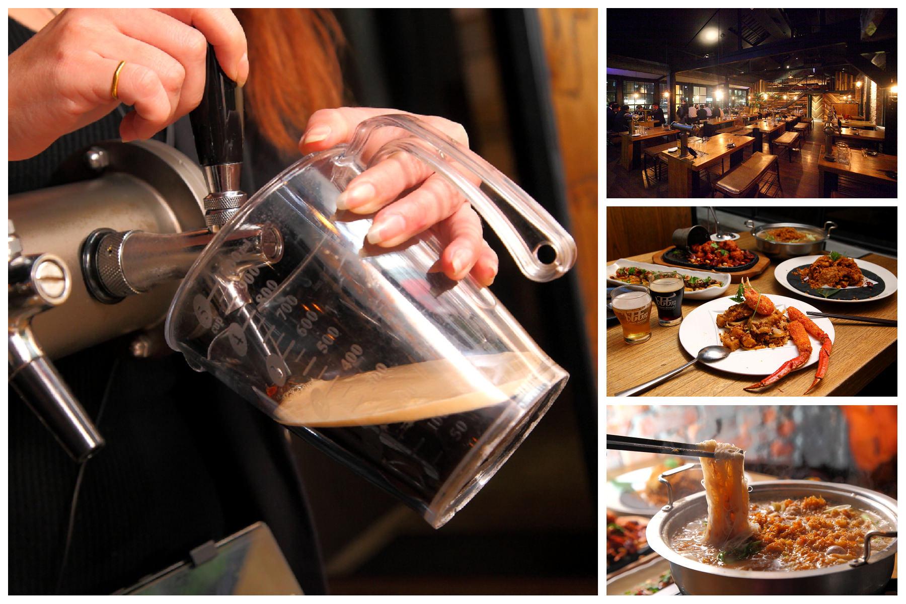 [台北松山]首創桌邊自助式拉霸啤酒機,想喝多少自己來!老台菜新吃法,主廚創意新台菜!啤調客 Beeru