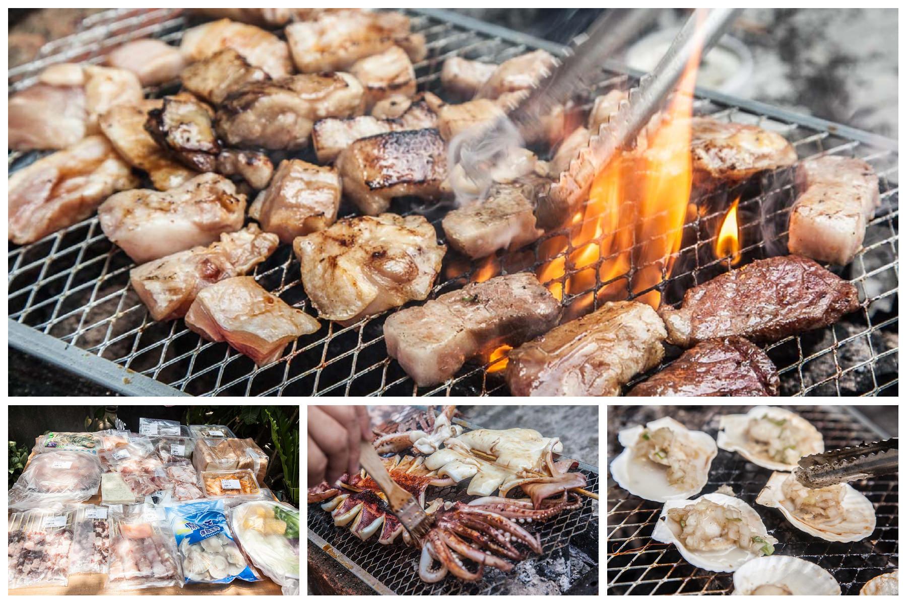 [宅配團購]網購烤肉組推薦!動動手指家裡就是燒肉店!五根烤肉網-海陸烤肉套餐