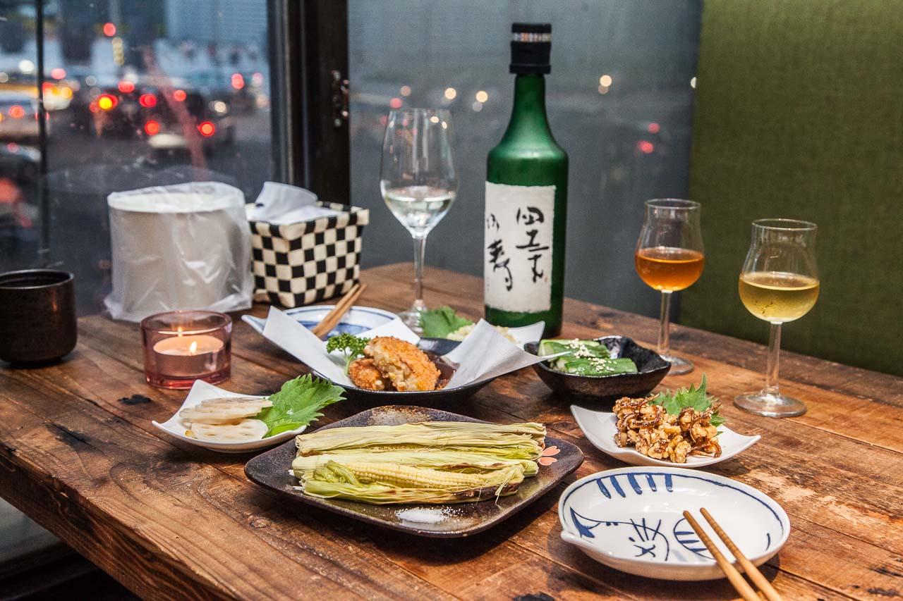 [台北大同]超隱密!隱身大樓內,台北車站旁的秘境清酒居酒屋~獨樂清酒食堂