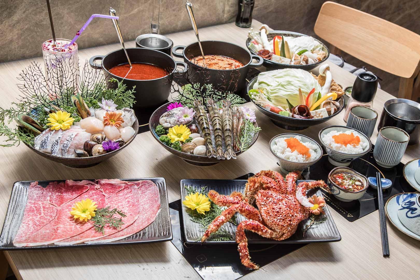 [桃園龜山]頂級食材鍋物推薦,驚呆!加點整隻南極大雪蟹只要199元!六石蒔鍋