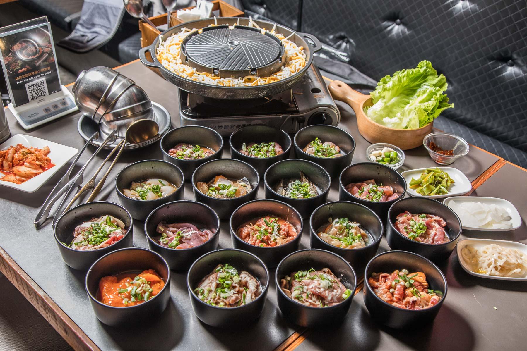 [中壢吃到飽]BINGU 賓屋 韓國食堂/戰力不夠千萬不要來!超狂韓式銅板烤肉16種肉類+海鮮無限量吃到飽!