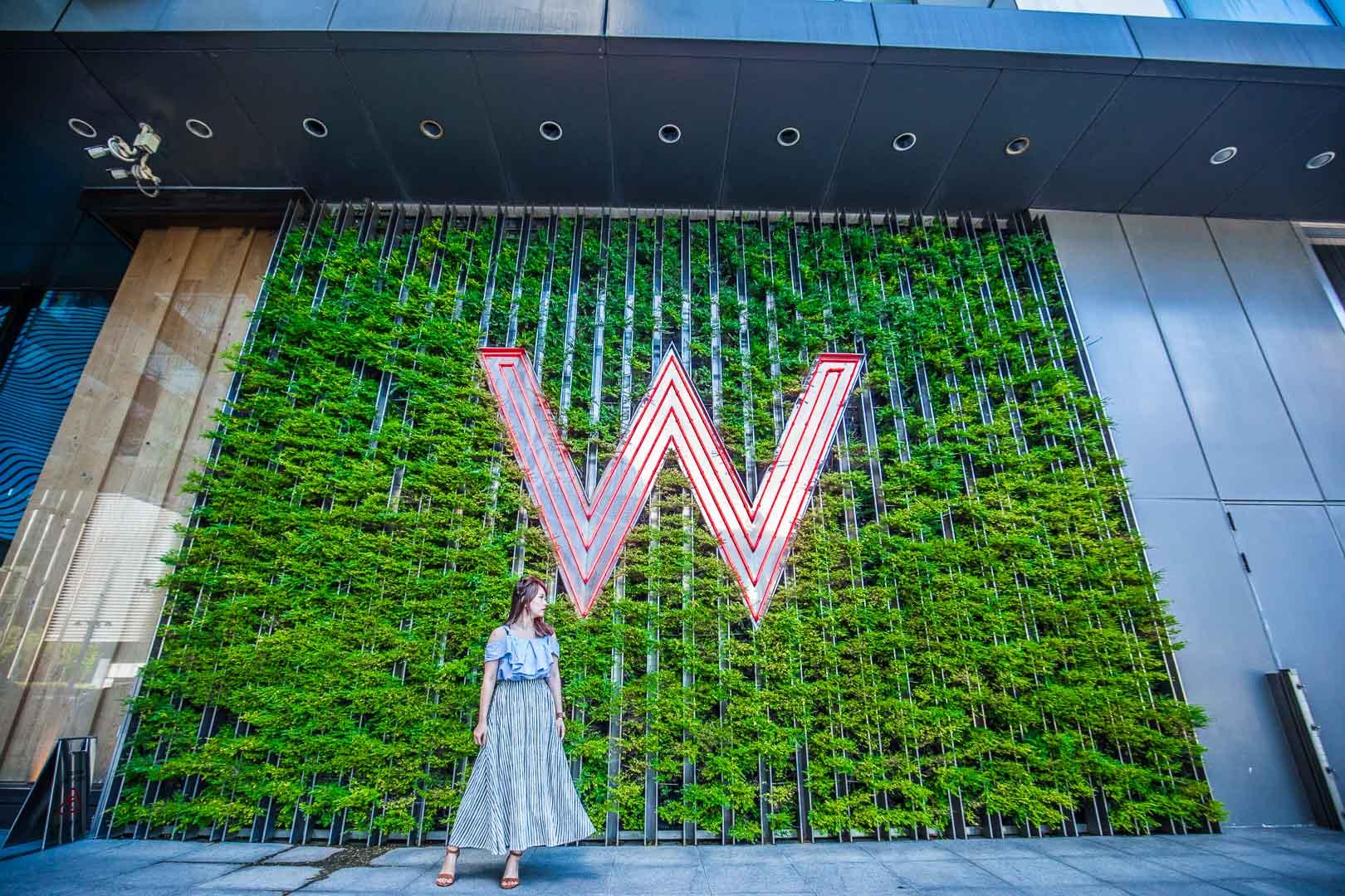 [台北住宿]W Hotel Taipei/連站在門口都覺得很潮!超賺的白日夢方案又來了!含4000餐飲額度還可延遲到14點退房!