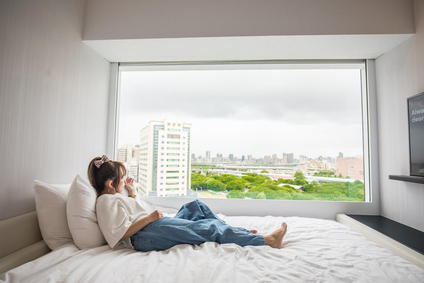 [台北住宿]citizenM北門世民酒店/躺在床上就能看大稻埕煙火,台北最美景觀煙火房