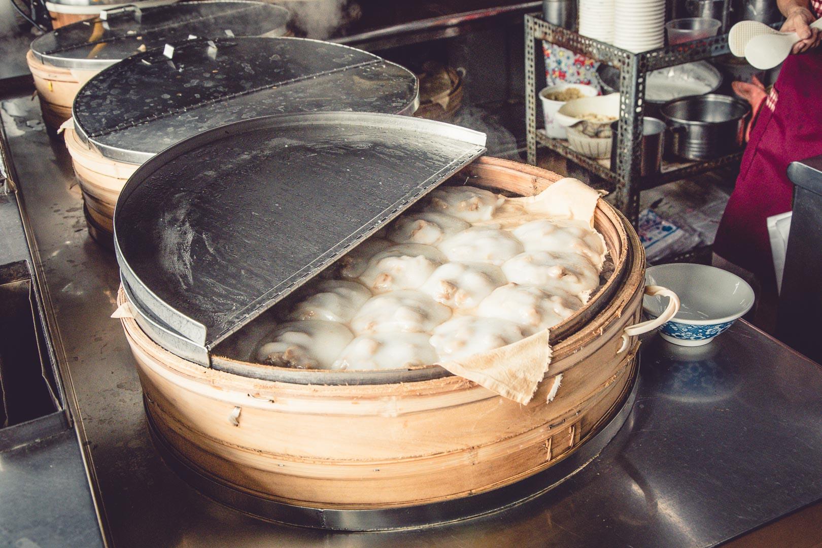 [屏東美食]錦記肉圓/這麼大顆清蒸肉圓才15元!? 古早味竹蒸籠清蒸肉圓