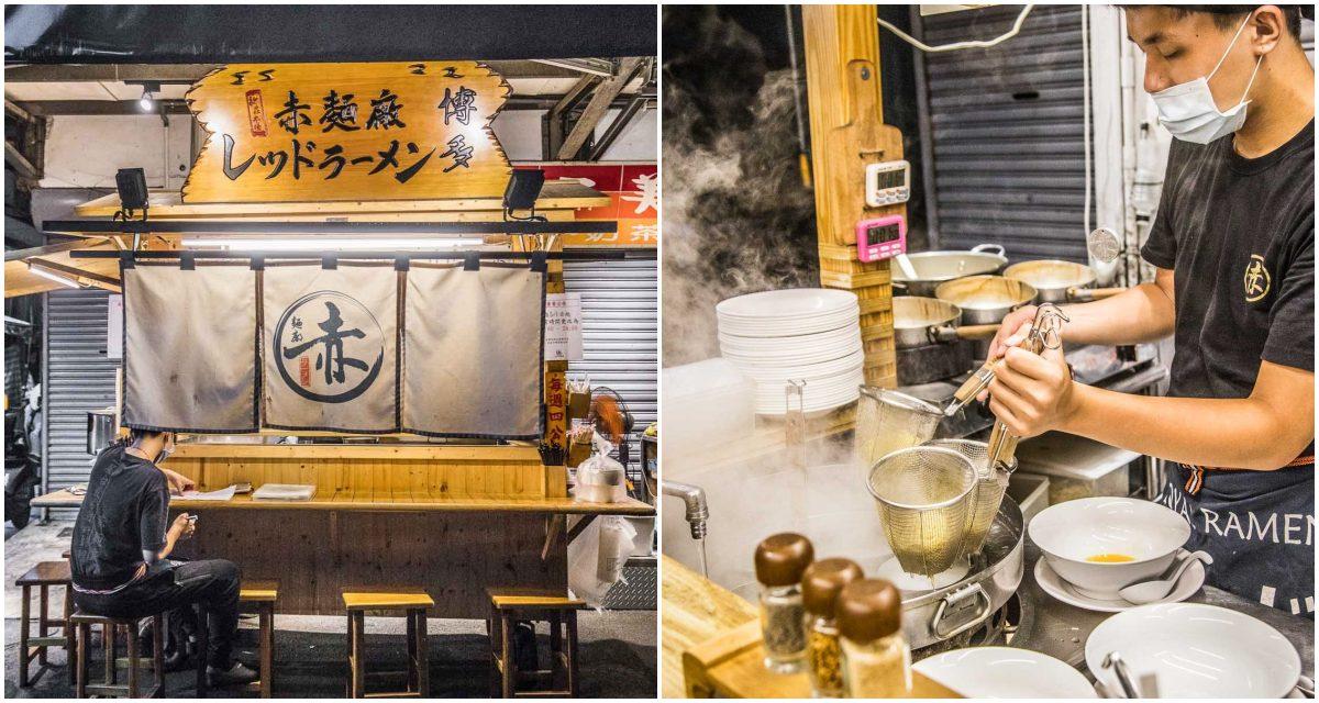 [新莊美食]這裡真的不是日本!?100%完全移植日本屋台拉麵!赤麵廠レッドラーメン