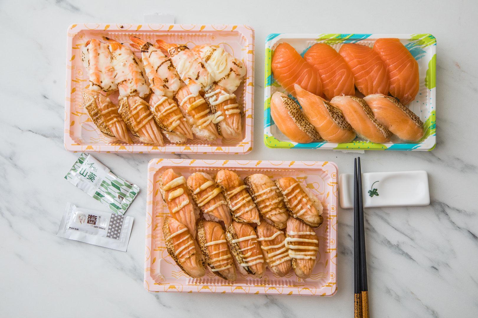 [桃園美食]Magic Touch点爭鮮/滿滿的鮭魚大平台!一盒還不用一百元!鮭魚控必須吃一波!