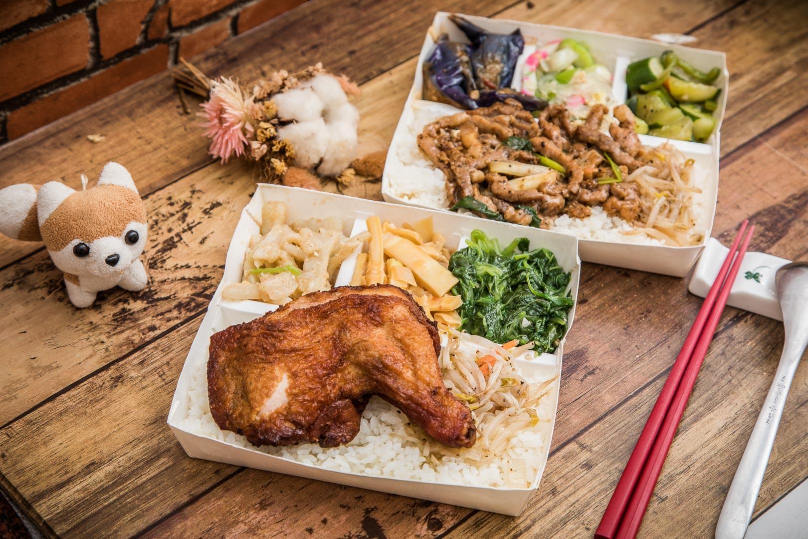 [桃園美食]三國東風南崁店/三國名將都跑來賣便當了!關羽的雞腿便當,超巨大雞腿配菜還任選只要一百!