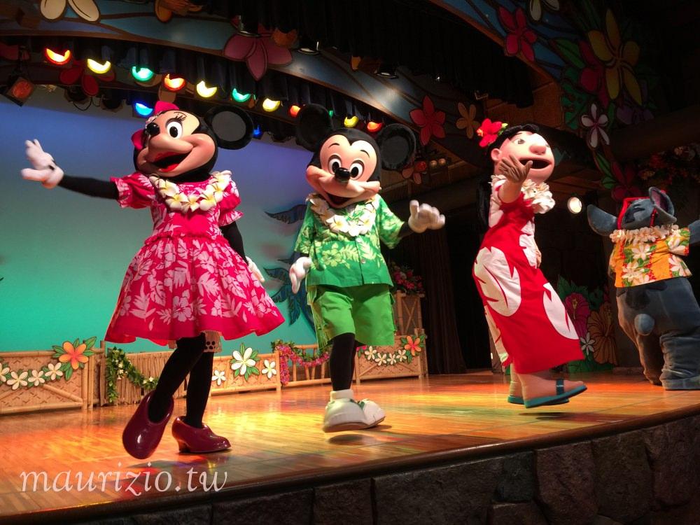 [東京] 迪士尼樂園 波里尼西亞草壇餐廳秀 – 米奇米妮大集合!內有S席訂位攻略、餐點分享