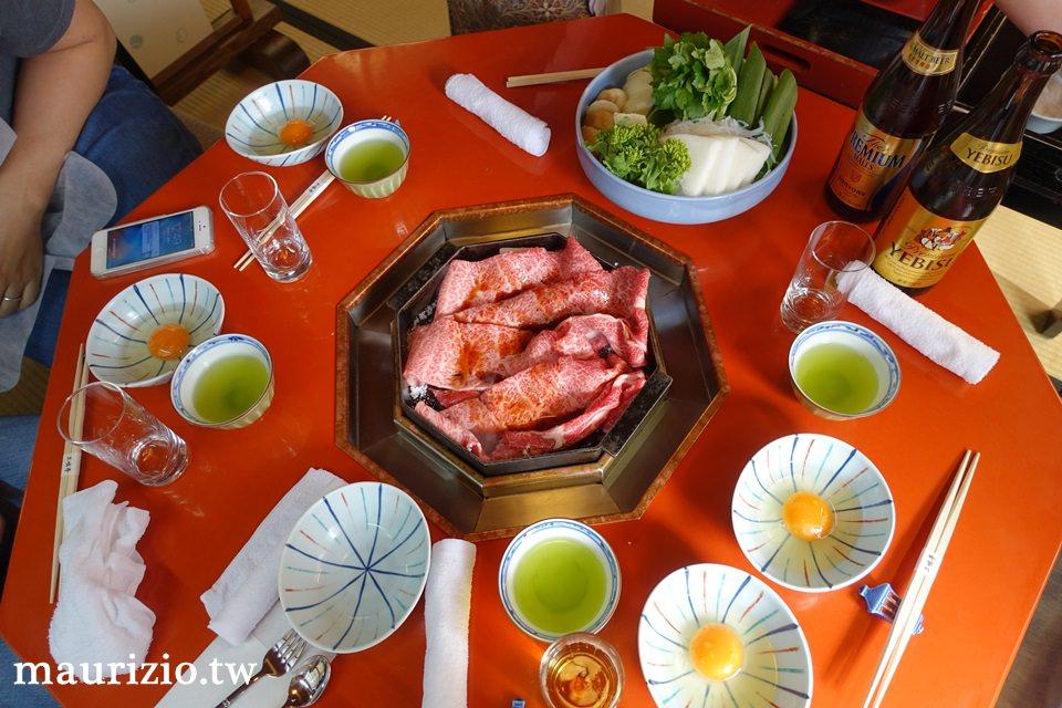 [京都] 二訪百年老店三嶋亭頂級黑毛和牛壽喜燒 – 大理石般的油花分布入口即化讓人再三回味