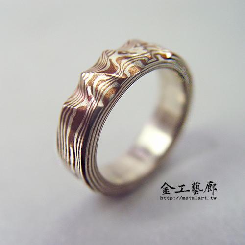木目金❜指輪④