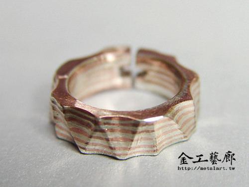 木目金❜指輪①