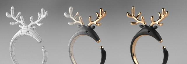 3D立體雕塑課程─T-Splines、Clayoo、Rhino6彩現