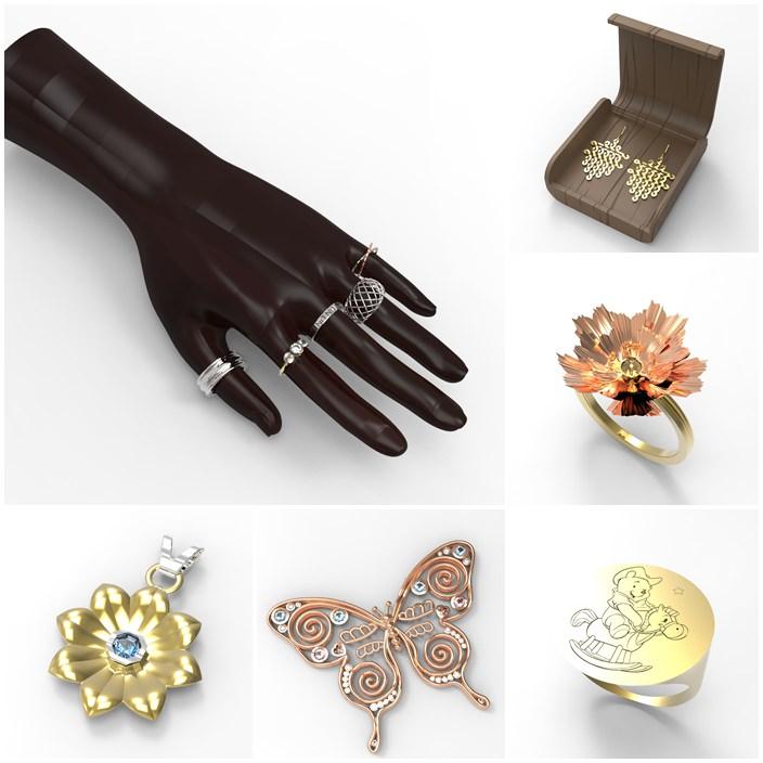 華梵大學—3D珠寶設計課程作品欣賞