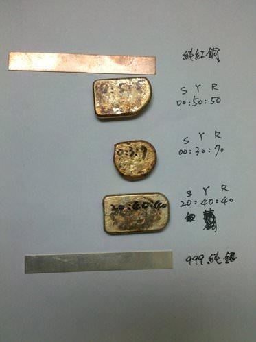 合銅的比例與顏色