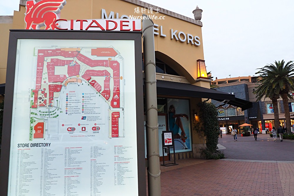 22982fb48ac7 今天要介紹給大家的凹累是位在洛杉磯的Citadel Outlets,光看這一張地圖,大家就可以知道,腿力不好、臂力不好,你會哭,沒有網路沒關係,賣場有提供Wi-Fi,你要注意的  ...