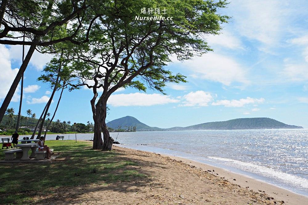 夏威夷、檀香山 Wailupe Beach Park 適合野餐的寧靜海灘