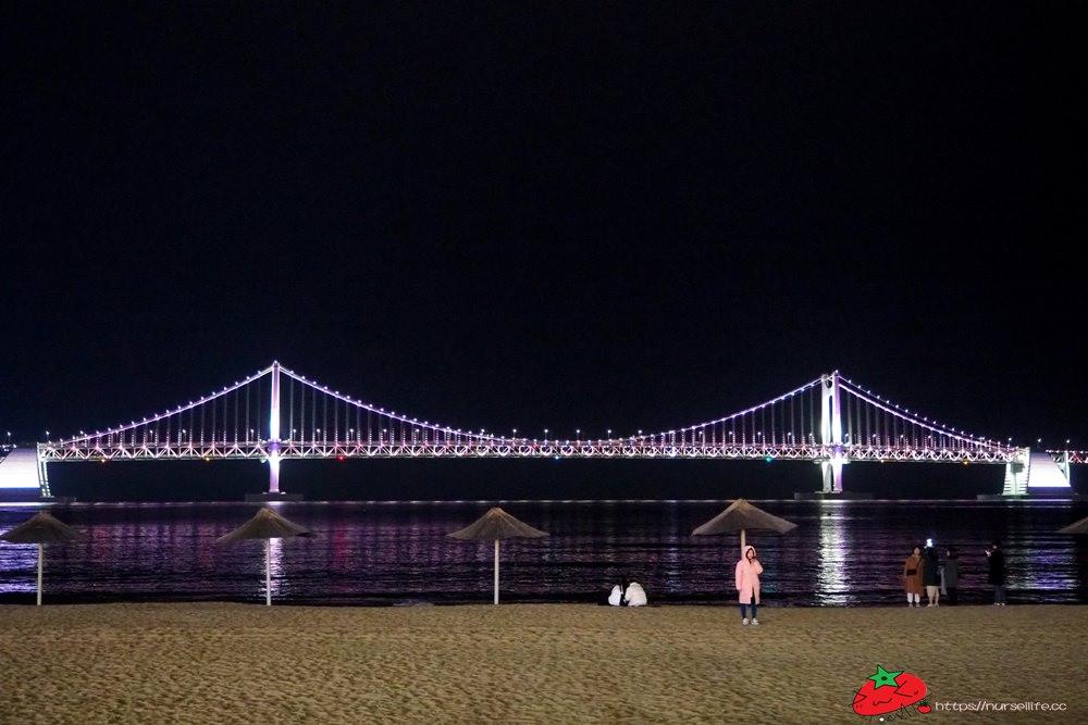 釜山|廣安里海水浴場.俯瞰廣安大橋白天日夜都好美 - nurseilife.cc