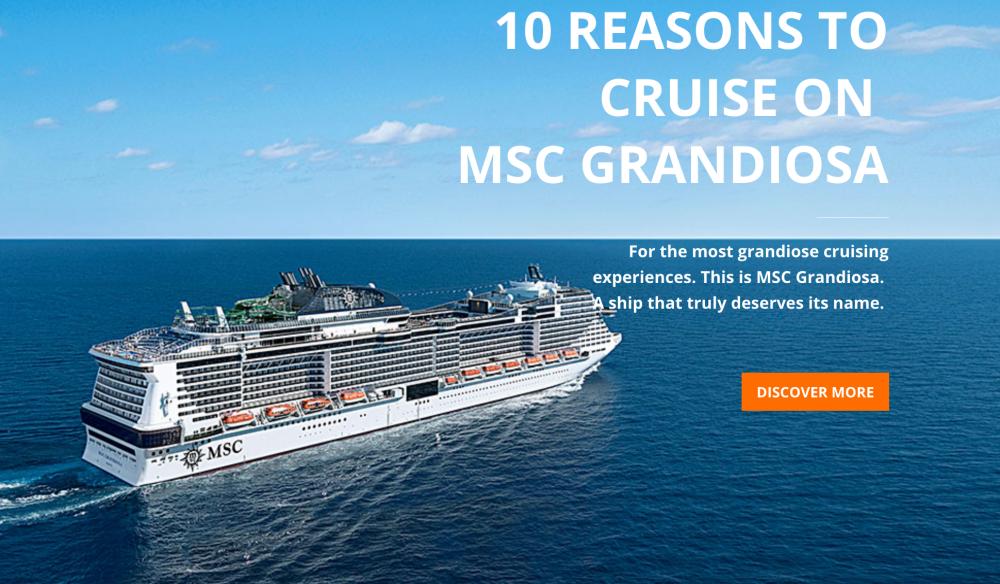 搭乘地中海郵輪【鴻圖號】MSC Grandiosa 的十大理由