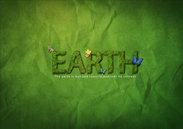 earth海報設計