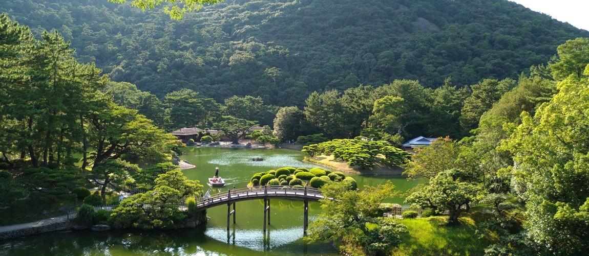 栗林公園 米其林三顆星名勝   2016夏日本瀨戶內藝術季