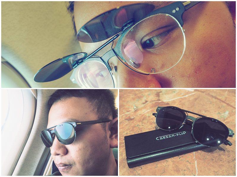 將眼鏡搖身一變成時尚太陽眼鏡  CAESAR FLIP 凱撒翻轉前掛