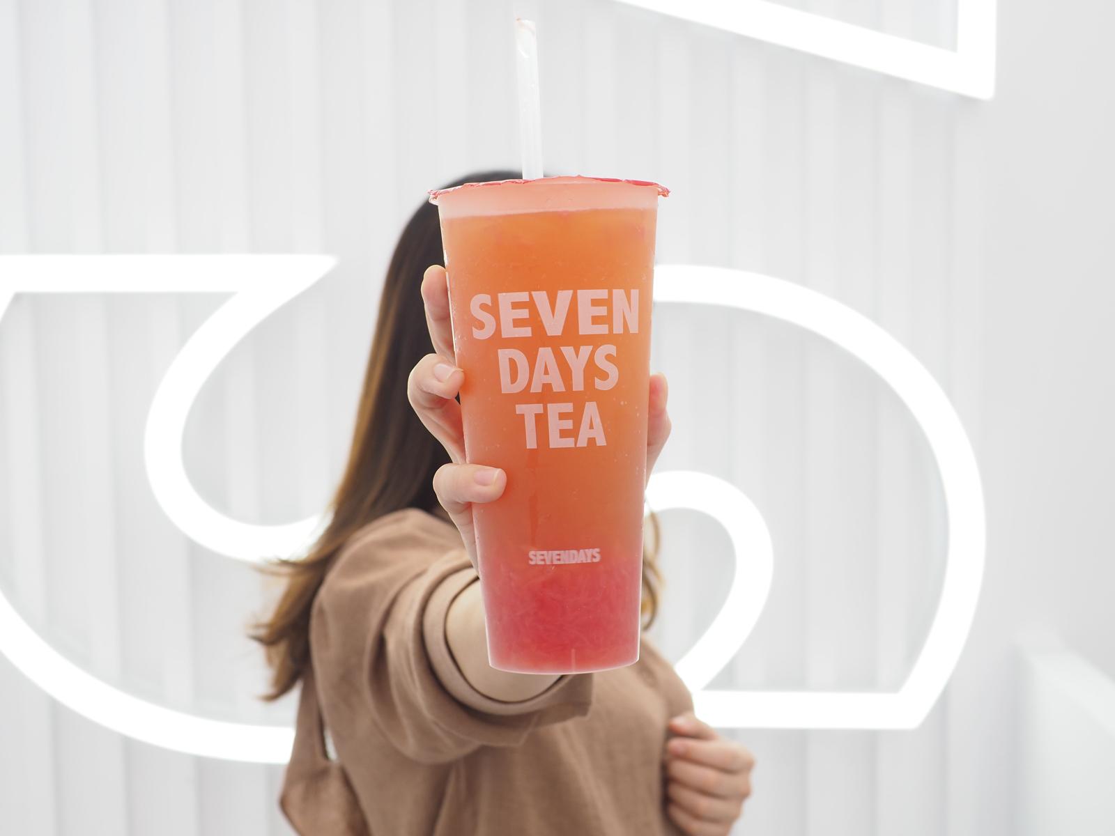 【中山站手搖飲推薦】SEVEN DAYS TEA 葡萄柚綠界第一名 來中山站都先買杯再逛街