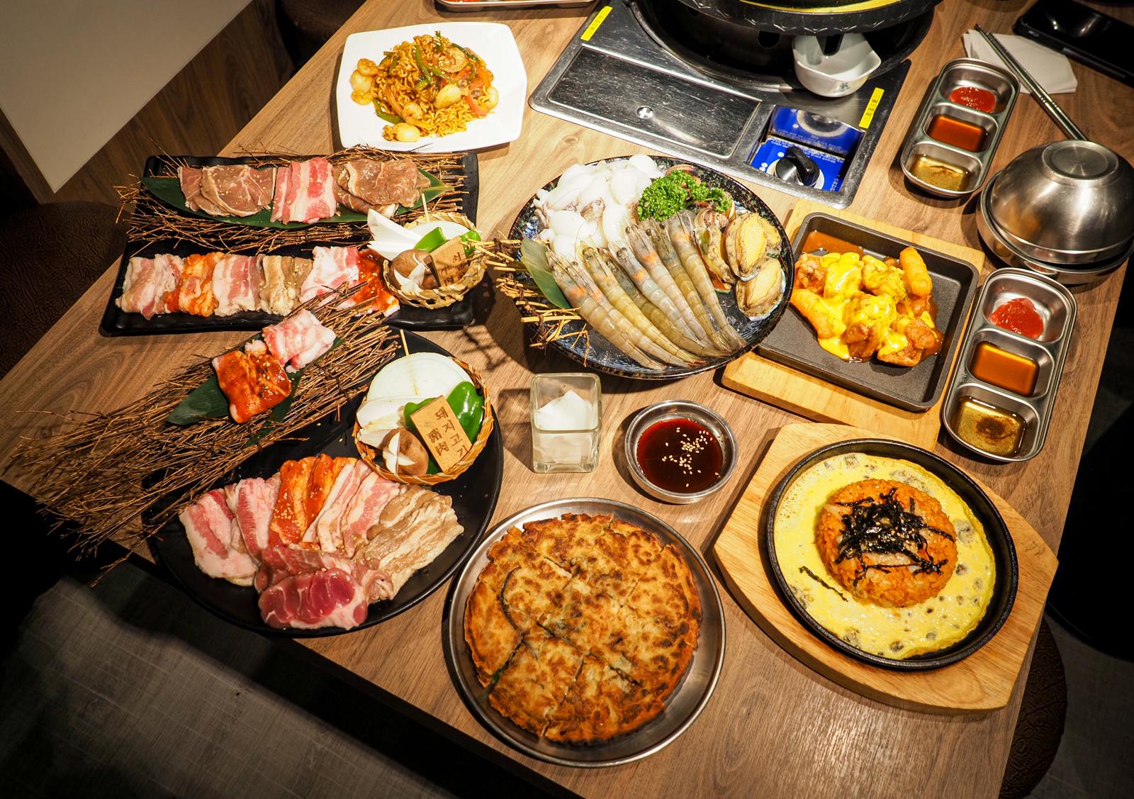 小豬樂石韓式烤肉  願稱你北台灣最狂韓式燒肉吃到飽  各種韓式料理直逼餐館單點水準