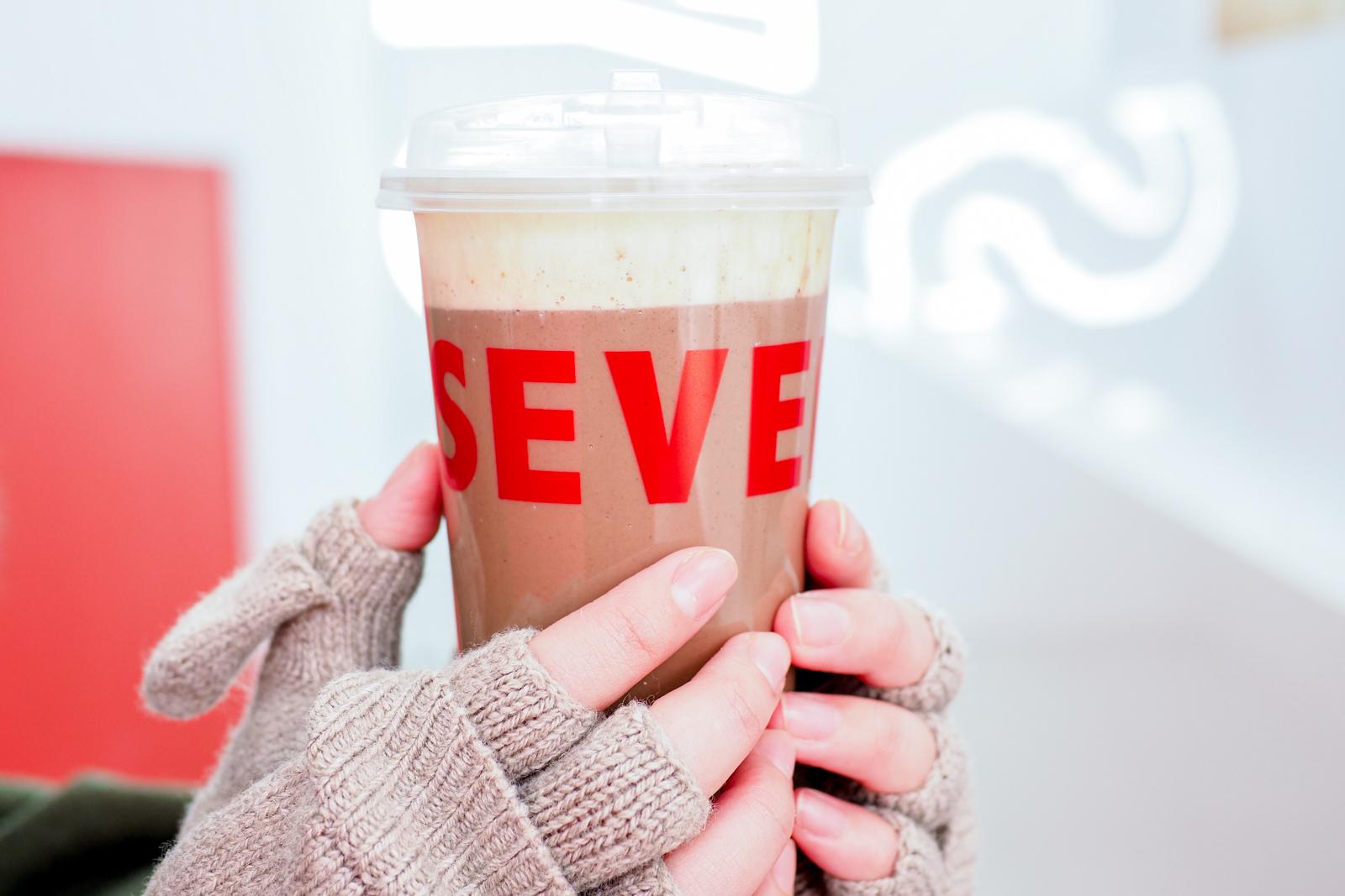 【中山站手搖飲推薦】SEVEN DAYS TEA 熱焙茶可可鮮奶讓你從頭暖到腳 寒流都免驚