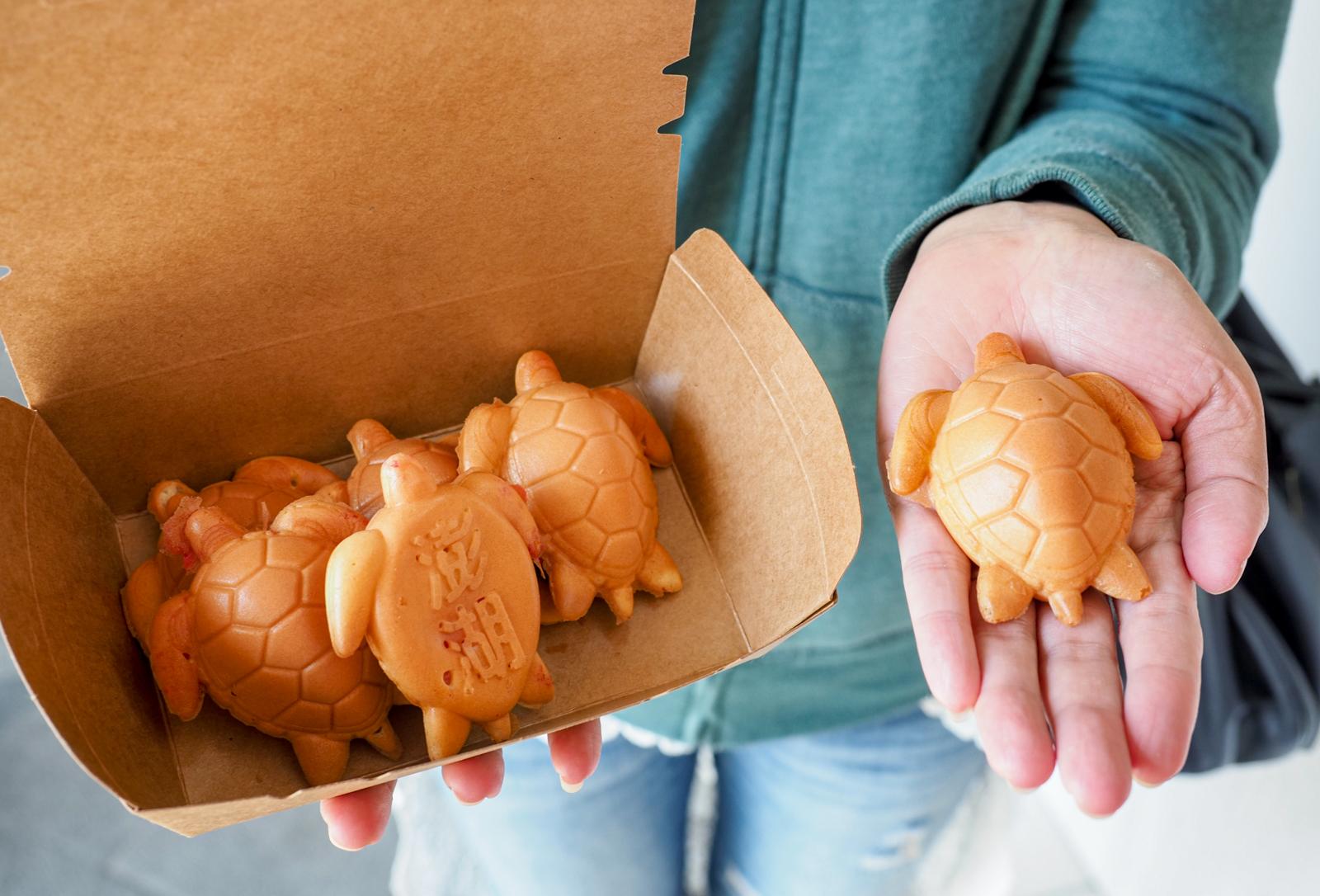 【澎湖馬公美食】澎湖龜鮮奶雞蛋糕 太萌太可愛!竟然還有澎湖特有仙人掌卡士達口味