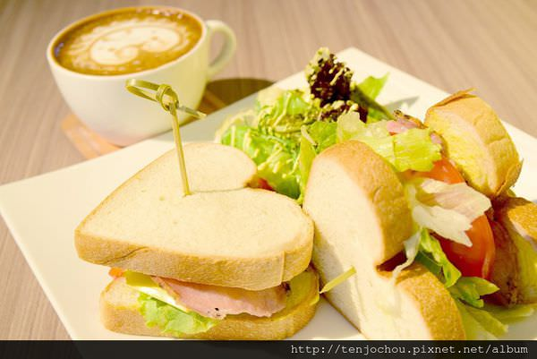 【台北食記】信義區-la bon cafe 愛心吐司可愛又好吃