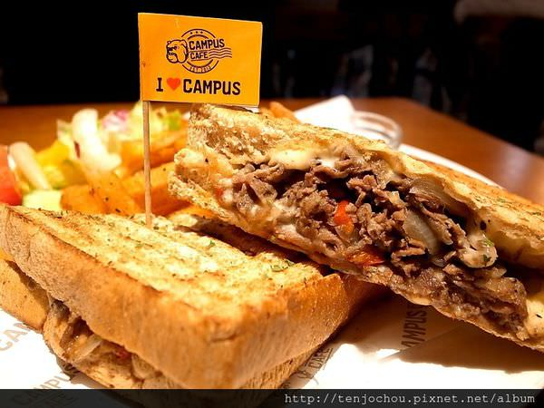 【台北食記】CAMPUS CAFE 康熙來了推薦!大份量爆料帕尼尼 東區美式餐廳推薦