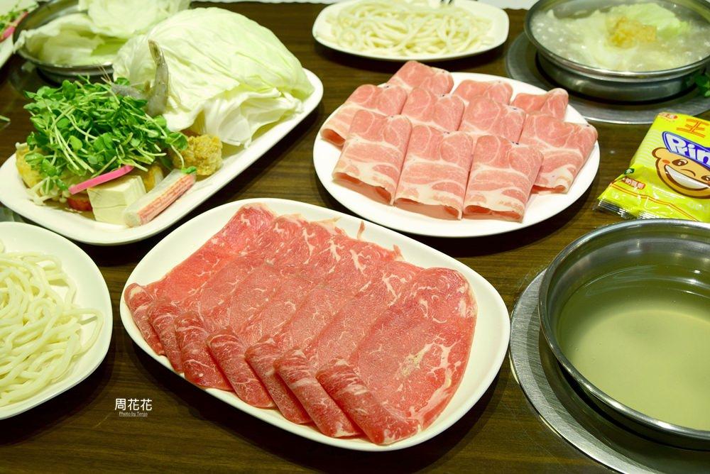 【台北食記】饌神涮涮鍋 信義區市政府平價火鍋店推薦!菜盤還有一隻蝦子唷